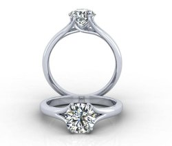 Solitare Diamond Ring For Women, Size: 11
