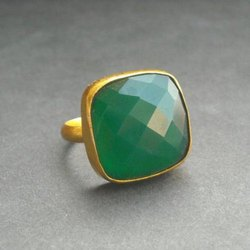 Green Onyx Ring Men and Women Panchdhatu Gemstone