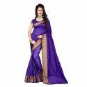 Ladies Silk Saree With Blouse Piece, Saree Length: 5.5 M