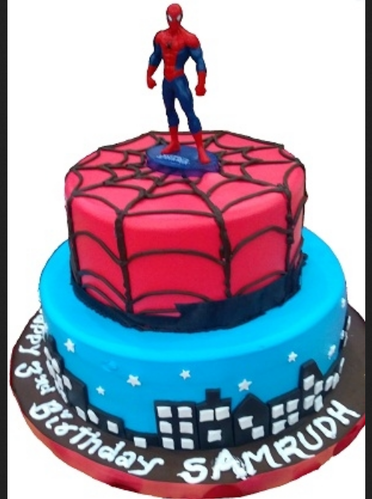 Spider Man Cake Fb Flower Basket Retailer In Kolar