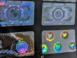 Holographic Overlay For Paper Plastic Identity Cards
