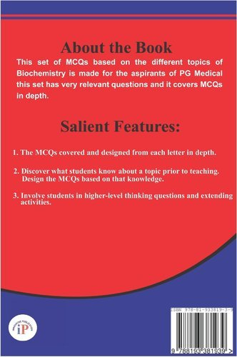 A to Z Biochemistry MCQ for All India Postgraduate Medical Entrance  Examination Book