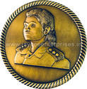 Jaycee Copper 3d Face Medal, Packaging Type: Poly Pack