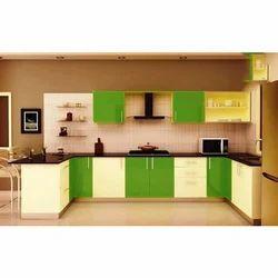 C Shaped Modular Kitchen