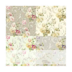 PVC Flower Print Wall Covering
