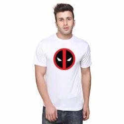 Mens Printed Polyester T Shirt
