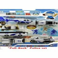 Multicolor Pull Back Police Car Toy