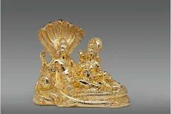 Golden Vishnu Laxmi Statue