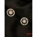 Diamond Round Earrings