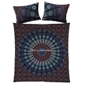 Blue Peacock Feather Duvet Printed Quilt Cover