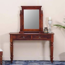 Brown Rectangular Wooden Dressing Table, For Home, Hotel and Restaurant