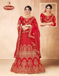 Fancy Fabric Heavy Embroidery & Diamond Work 3 PCS Lehenga with Blouse & Dupatta -  Neelanjala