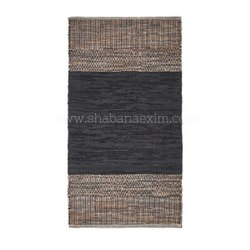 Indian Leather Area Rugs Carpet Floor Runners Door Mats Handwoven Leather Mat