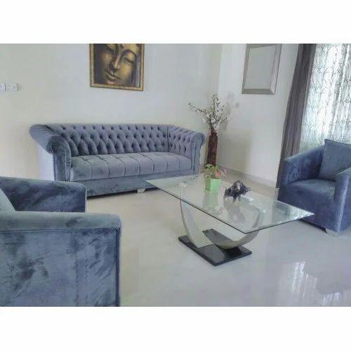 Velvet Sofa Set