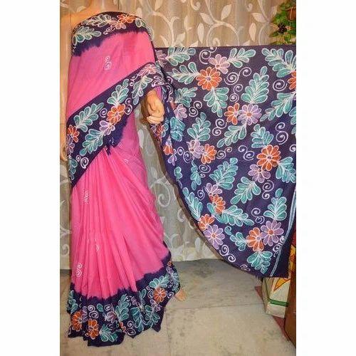 Hand Painted Cotton Saree