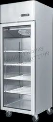 Riddhi Stainless Steel Glass Door Refrigerator, For Commercial