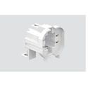 White Pl Square Lamp Holder