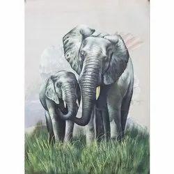 Elephant Wall Painting