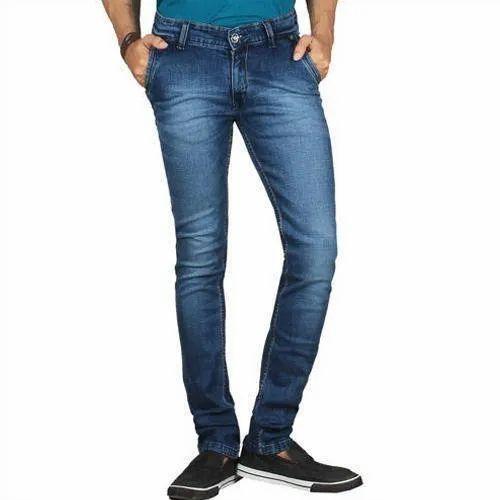 Casual Wear Regular Fit Men Blue Denim Jeans