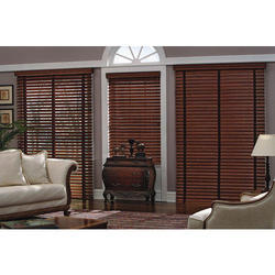 Wooden Brown Horizontal Interior Blinds, Thickness: 5 mm