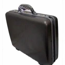 Black Plastic Fiber Hard Plastic Suitcase