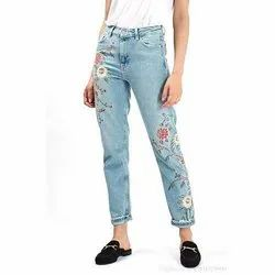Krackle Stretchable Ladies Printed Jeans, Packaging Type: Plastic Poly Bag, Waist Size: 28-40 inch