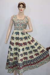 Light Bagru Print Frock