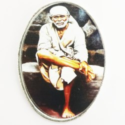 Sai Baba Color Silver Coin 50 gm