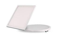 White Aluminium Panel : Cool and warm white aluminium watt ultra slim panel light round
