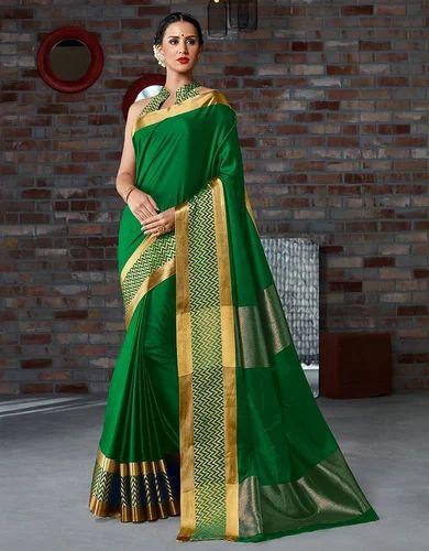 aeb50cc38eb2f Kanjeevaram Cotton And Kota Cotton Multi Coloured Cotton Silk Sarees ...