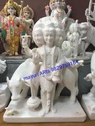 3 Feet Marble Dattatreya Statue