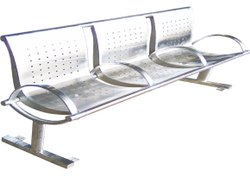 Stainless Steel Bench With Back Rest