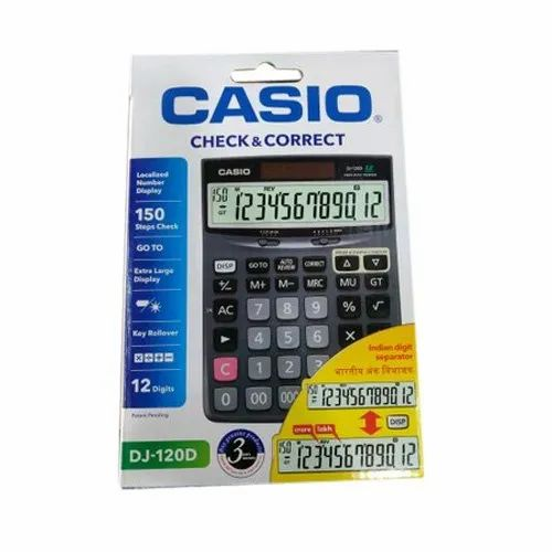 Casio DJ120D Calculator, Size/Dimension: 191x140x35mm