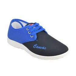 Dark And Light Blue Casual Wear Men's Canvas Shoe