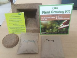 Brown Coir Plantable Gift Set, for Gifting