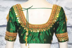 Designer Temple Coin Work Bridal Blouse
