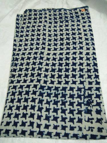 Zig Zag Printed Indian Hand Block Sewing Cotton Fabric