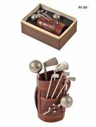 Golf Shape Wine Case Holder-Leatherite