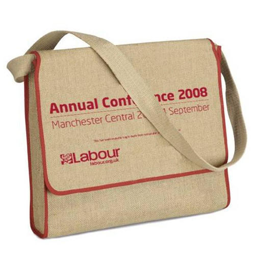 9112b78564 Brown And Beige Jute Conference Bags