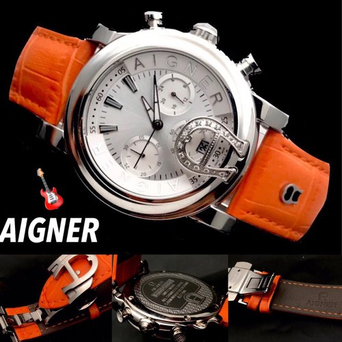 925 Sterling Silver Analog Aigner Watch