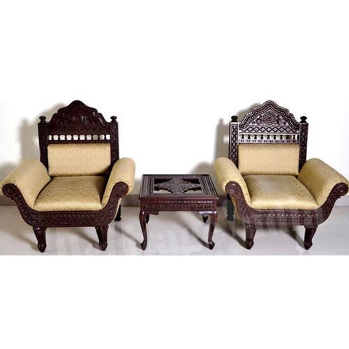 Sofa Set 5 Seater Carved Wooden Sofa Set Manufacturer From New Delhi