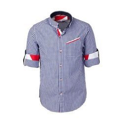 Cotton Checked Boy Check Shirt