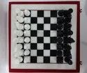 Red & White Marble Chess Set