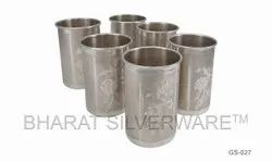 Pure Silver Engraving Glass Set
