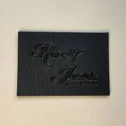 Super Embossed PU Leather Label