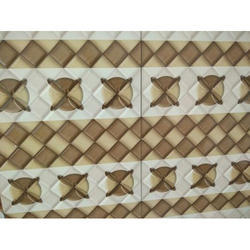 Brown And White Designer Wall Tiles, 8 - 10 mm, Size: Medium