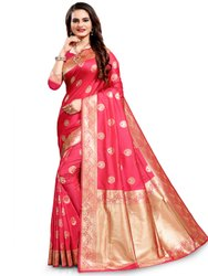 Graceful Multi Color Art Silk Saree With Blouse By Parvati Fabric (21701)