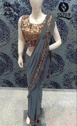Ruffle saree