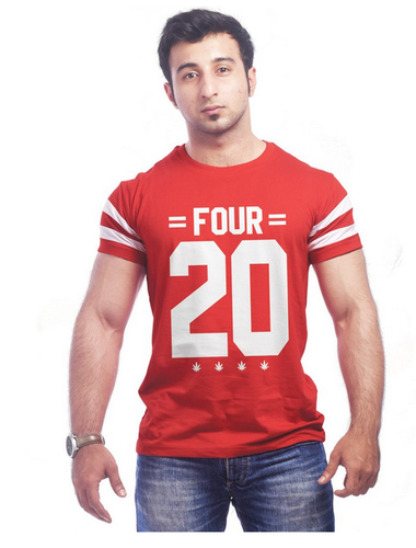 Half Sleeve High Five Clothing Red Round Neck S T Shirt Rs 499