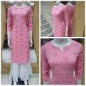Cotton Casual Wear Plus Sizes Pink Kurti, Wash Care: Handwash